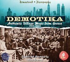 DEMOTIKA-AUTHENTIC GREEK VILLAGE MUSIC FEAT. KOSTAS MAKRIS  1917 1955 4 CD NEW!