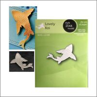 Lovely Koi Fish metal die Poppystamps cutting dies 2044 nautical animals sealife