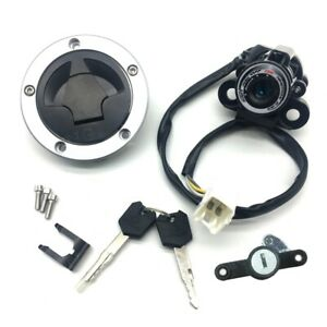 Kawasaki ER-6N ER-6F EX650 Ignition Switch Fuel Gas Cap Seat Lock For 2012-2016