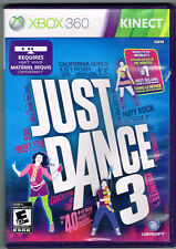 Just Dance 3 XBOX 360 Used Disk in Great condition- COMPLET-CIB - Fast Ship!