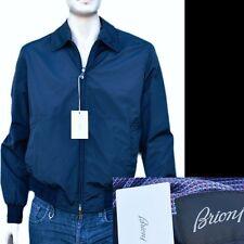 BRIONI New sz 2XL - XXL Authentic Mens Bomber Coat Jacket Reversible navy blue