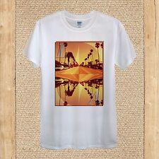 Los Angeles Creative T-Shirt Diseño Viaje EE. UU. Calidad De Palma Unisex Mujeres Ajustada