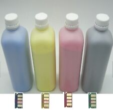 4 X TONER REFILL + 4 CHIPS FOR RICOH TYPE 145 CL4000DN SP C410dn C411dn C420dn