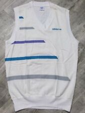 Vintage 80s adidas ATP Tennis Golf Sweater Vest NWOT Stripes size Medium