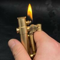 Brass Cigarette Retro Lighter Steampunk Vintage Refillable Kerosene Lighters