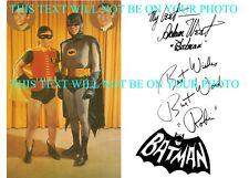 BATMAN AND ROBIN CAST SIGNED AUTOGRAPH 6x9 RP PROMO PHOTO BURT WARD & ADAM WEST