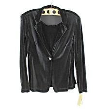 NEW Notations Velvet velour Sweater Single Button 2-Fer Women Size Medium LSC