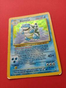 Pokemon Blastoise Turtok Holo Base Basis Set 2/102 PL EN Vintage PP&FAST