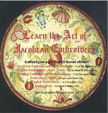 CD - Learn the Art of Jacobean Embroidery - 6 eBooks + Plus 10 Bonus eBooks