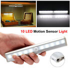 Stick-on PIR Motion Sensor LED Night Light Closet Lamp Magnetic Strip