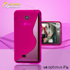 Pink S Curve Gel Case+ Free SP for LG Optimus F5 4G P875 Jelly Tpu soft cover