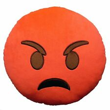 Angry Face Funny Cushion Emoji Soft Pillow Stuffed Doll Toy Sofa Home Decor Gift