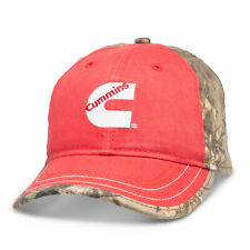 Cummins Hat Realtree Xtra® Pigment-Dyed Trucker Cap Red Camo New