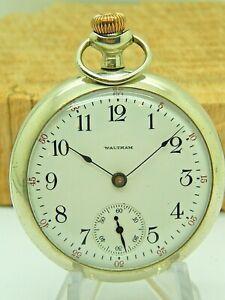 Antique Waltham 18 size 7 jewel Sterling grade pocket watch model 1883 from 1908