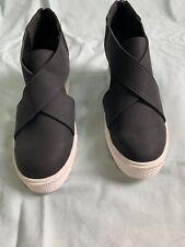 Women's Black Sneaker Wedge Platform Sandals New Size 8