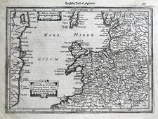 LANCASHIRE, CHESHIRE, N.WALES, Mercator Hondius original antique map c1630