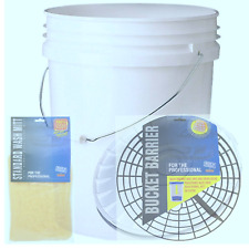 20 LITRE BUCKET AND BUCKET BARRIER / GRIT GUARD / SCRATCH SHIELD / WASH SYSTEM