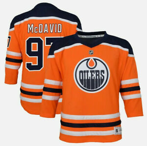Connor McDavid Edmonton Oilers #97 YOUTH NHL Outerstuff Home Hockey Boys Jersey