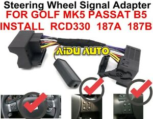 Multifunction Steering Wheel Button Control Simulator Adapter For VW RCD330