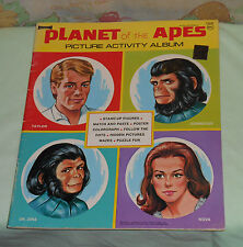 vintage Artcraft pota THE PLANET OF THE APES ACTIVITY ALBUM coloring book mazes