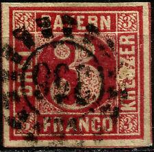 BAYERN, 3 KREUZER, YEAR 1862, MICHEL # 9, USED, (SU005)