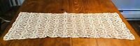 Vintage Crochet Lace Table Runner