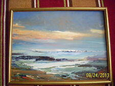 Old painting seascape pallet work not signed rare done well great colors