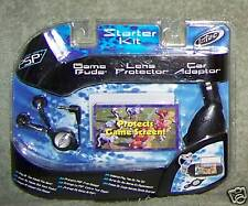 PSP STARTER KIT GAME BUDS, LENS PROTECTOR & CAR ADAPTOR INTEC