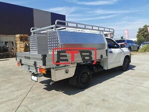 Single Extra Cab Ute Full Side Open Tool Box Toolboxes Roof Rack Drawer Setup
