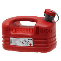 PRESSOL Kraftstoffkanister 5 Liter rot Benzinkanister Dieselkanister Kunststoff