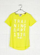 T-shirt, maglie e camicie da donna gialli con girocollo taglia XS