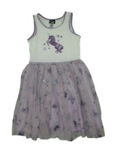 Pink + Violet Girls Size 10 Sleeveless Unicorn Sparkle Dress, Ivory/Lavender