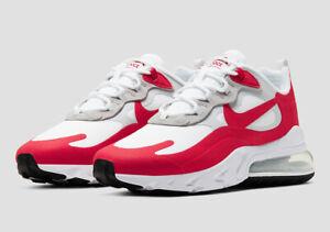 Nike Air Max 270 React UK 9 White University Red CW2625-100