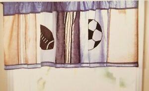 """Kids Expressions Sports Window Valance 72"""" x 18"""" NIP"""