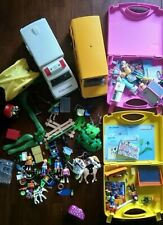 Playmobil Lot.  Ambulance, School Bus. Camping. Classroom. Boutique. Carry Cases