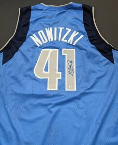 Dirk Nowitzki Dallas Mavericks Autographed Signed Jersey XL COA