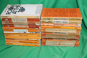 22 Orange Spine Penguin Paperbacks - All Listed with dates - Some 1st Editions