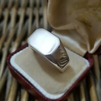 925 STERLING SILVER MEN'S SIGNET RING SIZE U US SIZE 10, FULL UK HALLMARKS, 11GR