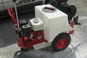 industrial pressure washer with built in water tank