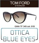 Occhiali da Sole TOM FORD TF GINA FT 345 Sunglasses Brillen солнцезащитные очки