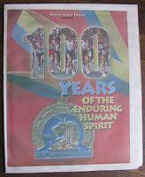 Boston Marathon 100 Years April 14, 1996 Newspaper Section (Boston Herald)