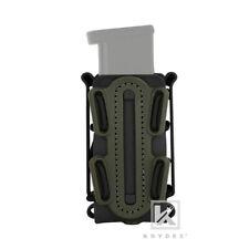 KRYDEX Soft Shell 9mm Pistol Magazine Mag Pouch Belt Clip Tall BK+Olive Green N