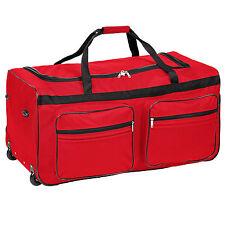 Sac de voyage XXL valise trolley sport bagage à roulettes 160 litres rouge
