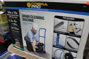 "Cobra Pro CP3020 3/8"" x 75ft Drain Cleaning Machine for 2"" - 4"" Pipes"