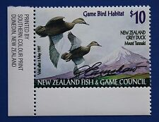 New Zealand (NZ03s) 1996 Game Bird Habitat Stamp (MNH) Signed by Artist