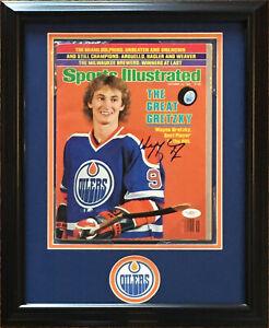 Wayne Gretzky Signed 10/12/1981 Sports Illustrated Magazine framed auto JSA COA
