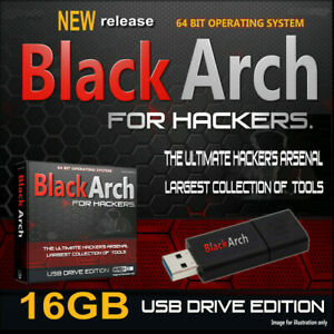 BLACKARCH LIVE USB - PRO HACKING OPERATING SYSTEM - 2500+ TOOLS HACK ANY PC!Kal-