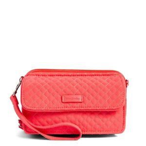 Vera Bradley *CORAL REEF* Microfiber RFID 3 in 1 Crossbody Wallet Bag NWT