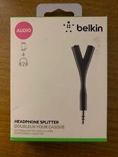 BELKIN Headphone Splitter Y 3.5MM Audio iPhone iPad iPod Smartphones Tablets Etc