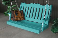 Poly 4 Foot Royal English Swing *Aruba Blue Color* Stainless Chains Included